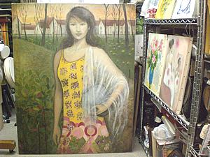 ご自身でも絵画を描かれる前田先生は、今は個展を開かれるための作品制作もされている。